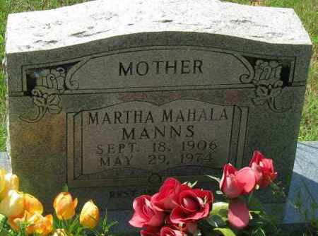 MANNS, MARTHA MAHALA - Pope County, Arkansas | MARTHA MAHALA MANNS - Arkansas Gravestone Photos