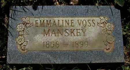 MANSKEY, EMMALINE - Pope County, Arkansas | EMMALINE MANSKEY - Arkansas Gravestone Photos