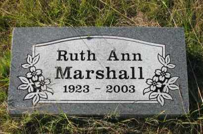 MARSHALL, RUTH ANN - Pope County, Arkansas | RUTH ANN MARSHALL - Arkansas Gravestone Photos