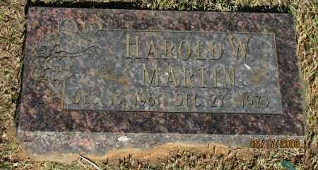 MARTIN, HAROLD W. - Pope County, Arkansas | HAROLD W. MARTIN - Arkansas Gravestone Photos