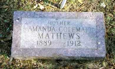 COFFMAN MATHEWS, AMANDA - Pope County, Arkansas | AMANDA COFFMAN MATHEWS - Arkansas Gravestone Photos