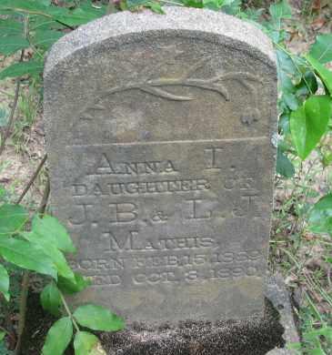 MATHIS, ANNA I - Pope County, Arkansas | ANNA I MATHIS - Arkansas Gravestone Photos