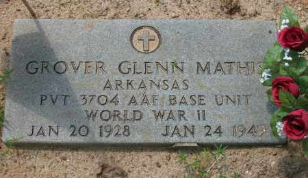 MATHIS (VETERAN WWII), GROVER GLENN - Pope County, Arkansas | GROVER GLENN MATHIS (VETERAN WWII) - Arkansas Gravestone Photos