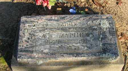 MATTHEWS, A J - Pope County, Arkansas | A J MATTHEWS - Arkansas Gravestone Photos