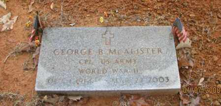 MCALISTER (VETERAN WWII), GEORGE BRONNIE - Pope County, Arkansas | GEORGE BRONNIE MCALISTER (VETERAN WWII) - Arkansas Gravestone Photos