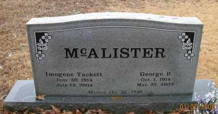 MCALISTER, IMOGENE - Pope County, Arkansas | IMOGENE MCALISTER - Arkansas Gravestone Photos
