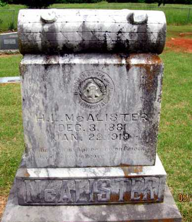 MCALISTER, H  L - Pope County, Arkansas | H  L MCALISTER - Arkansas Gravestone Photos