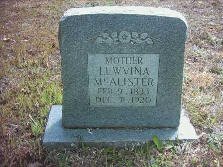 CHURCHILL MCALISTER, LEWVINA - Pope County, Arkansas | LEWVINA CHURCHILL MCALISTER - Arkansas Gravestone Photos