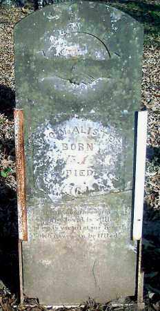 MCALISTER (VETERAN 1812), WILLIAM CRAWFORD - Pope County, Arkansas | WILLIAM CRAWFORD MCALISTER (VETERAN 1812) - Arkansas Gravestone Photos