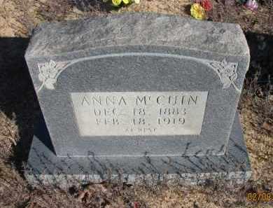 MCCUIN, ANNA - Pope County, Arkansas | ANNA MCCUIN - Arkansas Gravestone Photos