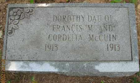MCCUIN, DORTHY - Pope County, Arkansas | DORTHY MCCUIN - Arkansas Gravestone Photos