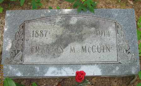 MCCUIN, FRANCIS M - Pope County, Arkansas | FRANCIS M MCCUIN - Arkansas Gravestone Photos