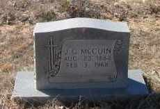 MCCUIN, JOHN GREEN - Pope County, Arkansas | JOHN GREEN MCCUIN - Arkansas Gravestone Photos