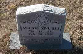 MCCUIN, WALSIE - Pope County, Arkansas | WALSIE MCCUIN - Arkansas Gravestone Photos