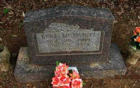 MCDANIEL, BERT - Pope County, Arkansas   BERT MCDANIEL - Arkansas Gravestone Photos