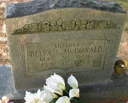 MCDONALD, BELVA L - Pope County, Arkansas | BELVA L MCDONALD - Arkansas Gravestone Photos