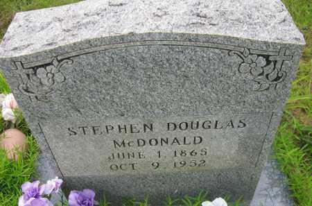 MCDONALD, STEPHEN DOUGLAS - Pope County, Arkansas | STEPHEN DOUGLAS MCDONALD - Arkansas Gravestone Photos