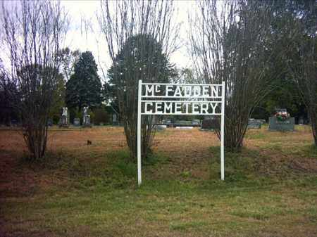 *MCFADDEN CEMETERY SIGN,  - Pope County, Arkansas |  *MCFADDEN CEMETERY SIGN - Arkansas Gravestone Photos