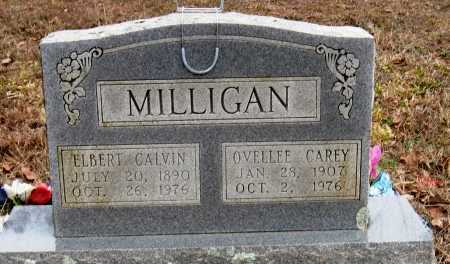 CAREY MILLIGAN, OVELLEE - Pope County, Arkansas | OVELLEE CAREY MILLIGAN - Arkansas Gravestone Photos