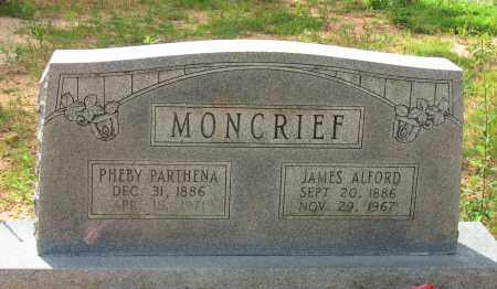 MONCRIEF, JAMES ALFORD - Pope County, Arkansas | JAMES ALFORD MONCRIEF - Arkansas Gravestone Photos