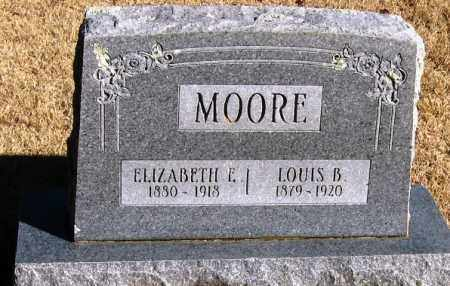 MOORE, ELIZABETH E - Pope County, Arkansas | ELIZABETH E MOORE - Arkansas Gravestone Photos