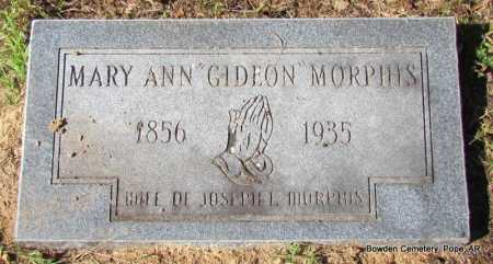 MORPHIS, MARY ANN - Pope County, Arkansas | MARY ANN MORPHIS - Arkansas Gravestone Photos