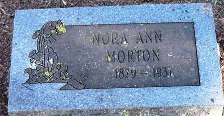 MORTON, NORA ANN - Pope County, Arkansas | NORA ANN MORTON - Arkansas Gravestone Photos