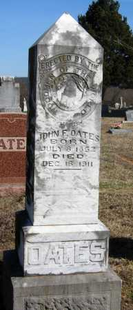OATES, JOHN F - Pope County, Arkansas | JOHN F OATES - Arkansas Gravestone Photos
