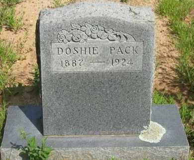 PACK, DOSHIE - Pope County, Arkansas | DOSHIE PACK - Arkansas Gravestone Photos