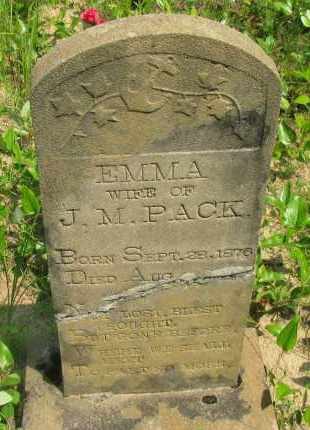 PACK, EMMA - Pope County, Arkansas | EMMA PACK - Arkansas Gravestone Photos