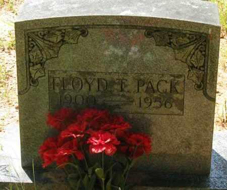 PACK, FLOYD T - Pope County, Arkansas | FLOYD T PACK - Arkansas Gravestone Photos