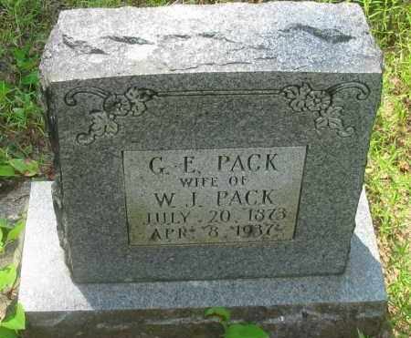 PACK, G E - Pope County, Arkansas | G E PACK - Arkansas Gravestone Photos