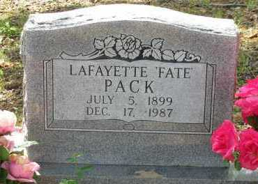 "PACK, LAFAYETTE  ""FATE"" - Pope County, Arkansas 