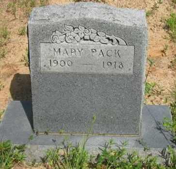 PACK, MARY - Pope County, Arkansas | MARY PACK - Arkansas Gravestone Photos