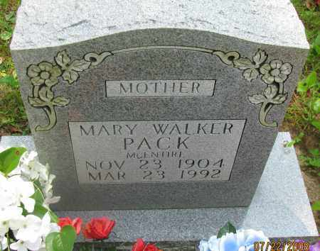 WALKER PACK MCENTIRE, MARY - Pope County, Arkansas | MARY WALKER PACK MCENTIRE - Arkansas Gravestone Photos