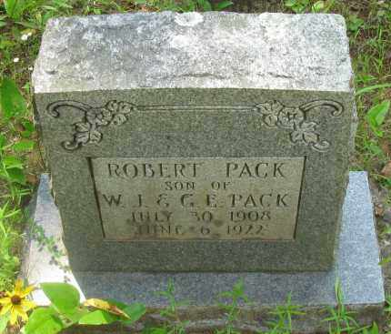 PACK, ROBERT - Pope County, Arkansas | ROBERT PACK - Arkansas Gravestone Photos