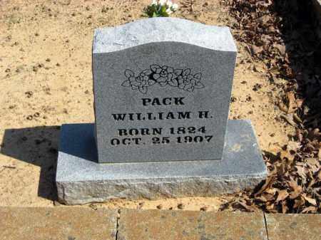 PACK, WILLIAM H - Pope County, Arkansas | WILLIAM H PACK - Arkansas Gravestone Photos