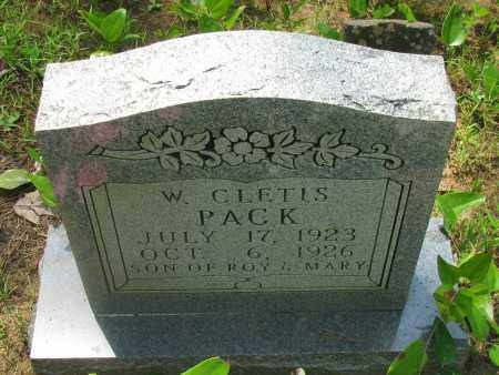 PACK, W CLETIS - Pope County, Arkansas | W CLETIS PACK - Arkansas Gravestone Photos