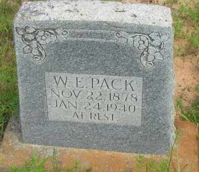 PACK, W E - Pope County, Arkansas | W E PACK - Arkansas Gravestone Photos