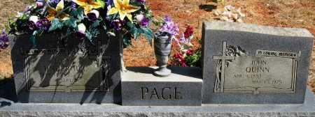 PAGE, JOHN QUINN - Pope County, Arkansas | JOHN QUINN PAGE - Arkansas Gravestone Photos