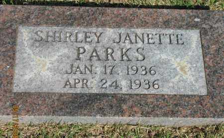 PARKS, SHIRLEY JANETTE - Pope County, Arkansas | SHIRLEY JANETTE PARKS - Arkansas Gravestone Photos
