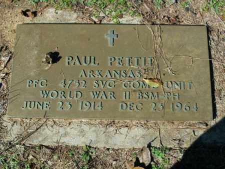 PETTIT (VETERAN WWII), PAUL - Pope County, Arkansas   PAUL PETTIT (VETERAN WWII) - Arkansas Gravestone Photos