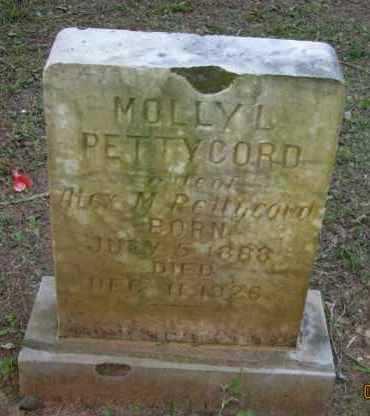 PETTYCORD, MOLLY L - Pope County, Arkansas | MOLLY L PETTYCORD - Arkansas Gravestone Photos