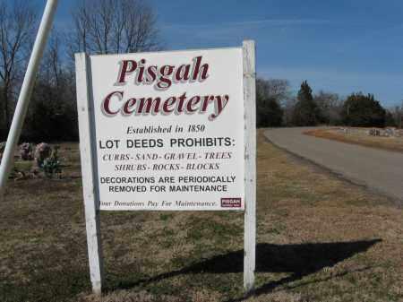 *PISGAH CEMETERY SIGN,  - Pope County, Arkansas    *PISGAH CEMETERY SIGN - Arkansas Gravestone Photos