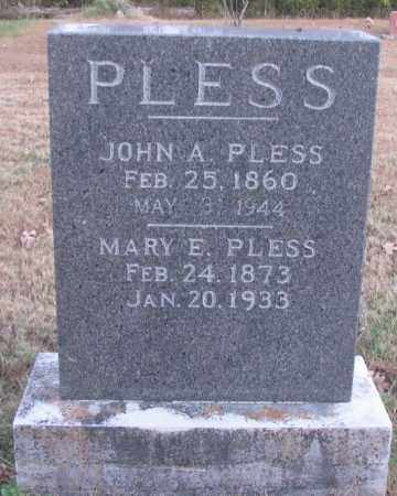 PLESS, MARY E - Pope County, Arkansas | MARY E PLESS - Arkansas Gravestone Photos