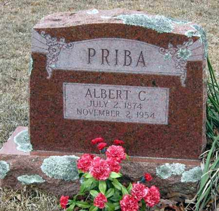 PRIBA, ALBERT C - Pope County, Arkansas | ALBERT C PRIBA - Arkansas Gravestone Photos