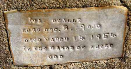 QUALLS, IVA - Pope County, Arkansas | IVA QUALLS - Arkansas Gravestone Photos