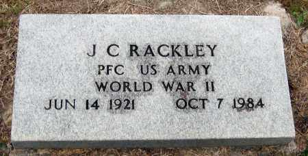 RACKLEY  (VETERAN WWII), J  C - Pope County, Arkansas | J  C RACKLEY  (VETERAN WWII) - Arkansas Gravestone Photos