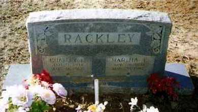 RACKLEY, CHARLEY - Pope County, Arkansas | CHARLEY RACKLEY - Arkansas Gravestone Photos