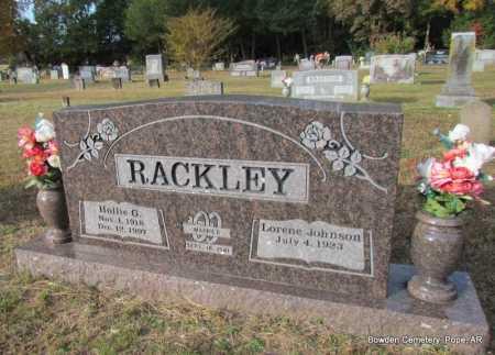 RACKLEY, HOLLIE G - Pope County, Arkansas | HOLLIE G RACKLEY - Arkansas Gravestone Photos